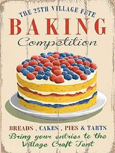 Baking Competition small steel sign 200mm x 150mm (og)
